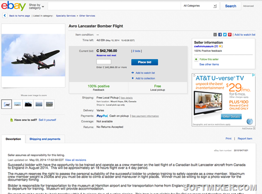 Avro-Lancaster-Bomber-Flight-eBay-auction