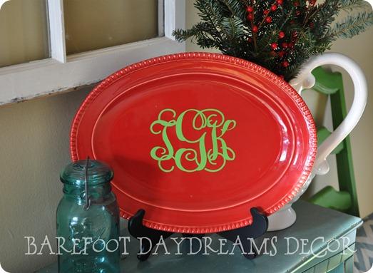 Red Christmas Platter