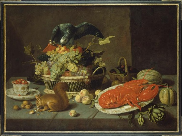 Van Es Jacob Fopsen, Nature morte à l'écureuil