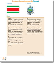jugarycolorear -Bandera, escudo e himno de boyaca