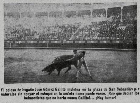 1915-08-14 o 15(¿) (p. 23 TKL) Joselito 6 San Sebastian Por naturales