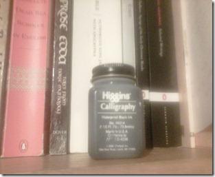 higgins calligraphy