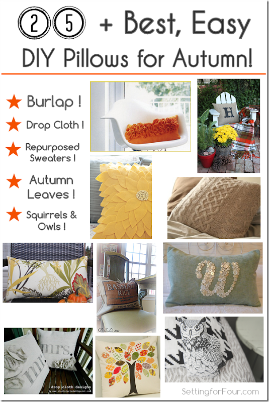 Setting for Four: The Best, Easy DIY Pillows for Autumn – Home ...