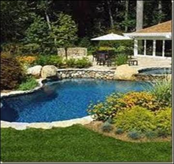 Fotos de jardines con piscina dise o y decoracion de jardines de casas - Decoracion de jardines con piscina ...