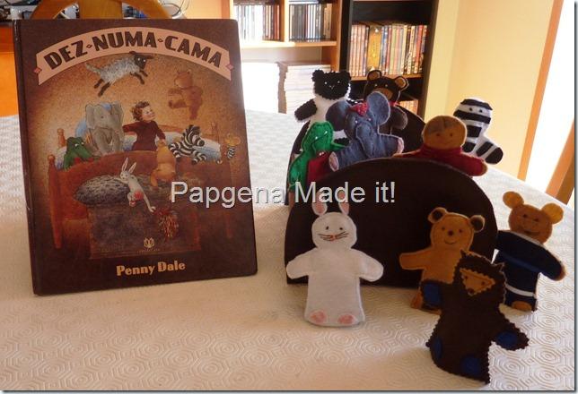 livro e bonecos