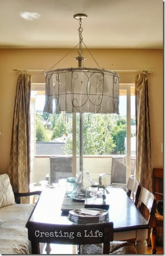 Dining room light cover