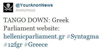 Οι anonymous «χτύπησαν» την ΕΛΑΣ, το υπουργείο Προστασίας του Πολίτη, της Κυβέρνησης και της Βουλής των Ελλήνων