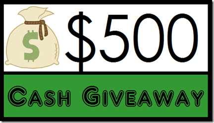 $500 Cash Giveaway