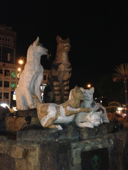 And another cat statue