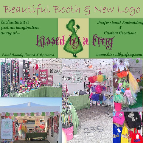 Kissed by a frog craft show booth application photo the booth new logo craft booth set up ideas picture