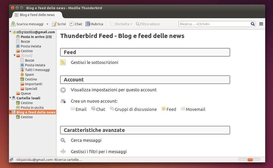 Mozilla Thunderbird 31 - Home