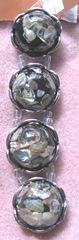 black silver dicohric shell bracelet beads2