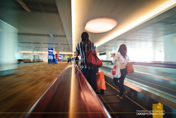 Working Walkalators at Singapore's Changi International Airport