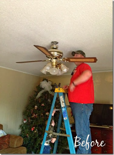 Living Room Ceiling Fan Before