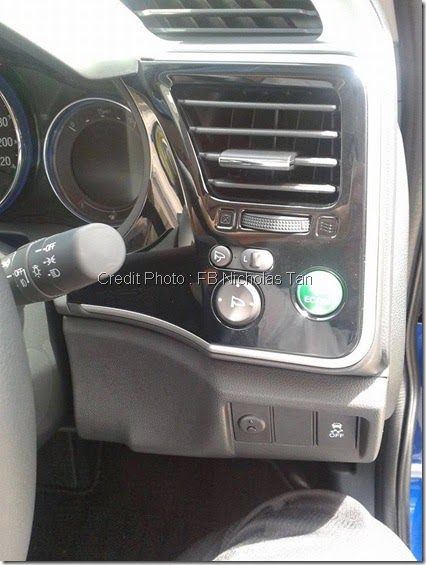 side panel with ECON button Honda city 2014
