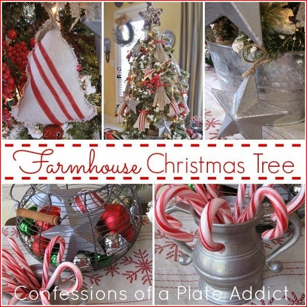CONFESSIONS OF A PLATE ADDICT A Farmhouse Christmas Tree with Super Easy DIY