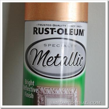 Rustoleum copper paint