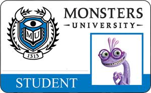 Randall (Randy) Bogg Monsters University Student Identification Card