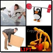 LIFT- 4 Pics 1 Word Answers 3 Letters