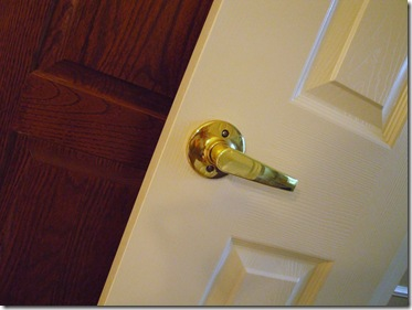 1.  Doorknob before