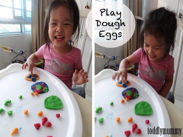 Play dough eggs