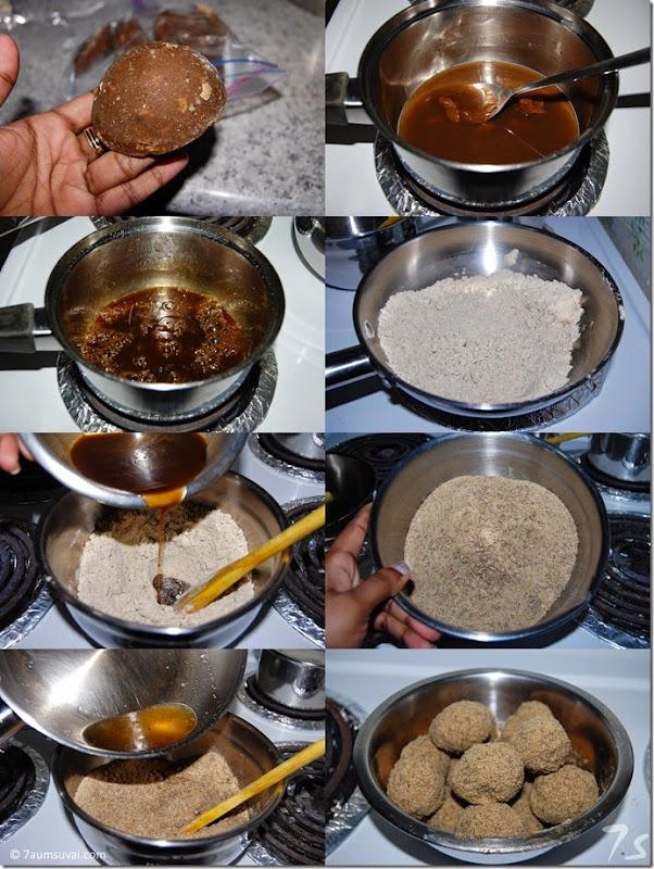 Sathu maavu laddu process