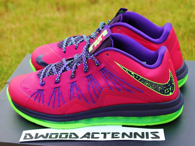 Lebron 10 green and purple