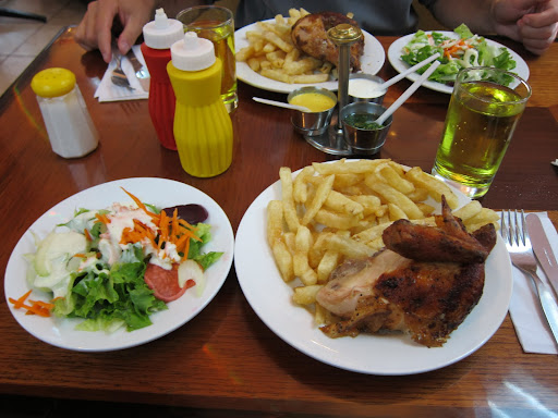 Our massive set lunch from Norky's Chicken - a Peruvian chain