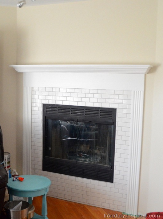 new fireplace mantel and surround