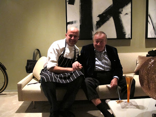 This is the Birthday Chef and Sirio Maccioni, owner of Le Cirque where Pierre took his first job in New York.