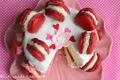 Strawberry Shortcake with Red Velvet Macarons 3 - Life made Sweeter.jpg