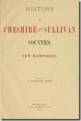 History of Cheshire & Sullivan counties NH by Hurd_title page