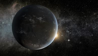 ilustração do sistema estelar Kepler-62