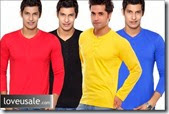 Buy Pack of Henley T-Shirts (2 Units) at Rs.529 for Men. Choose from 5 Designs and 5 Sizes