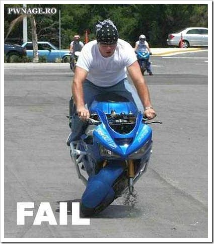 About to fail - Motorbike