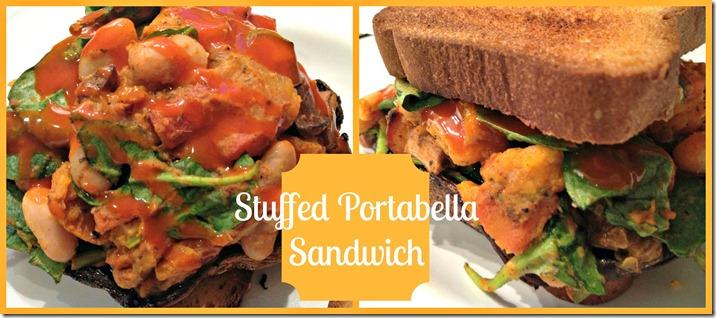 stuffed portabella sandwch