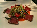 Coriander Crusted Seared Tuna with Sweet Chili Sauce
