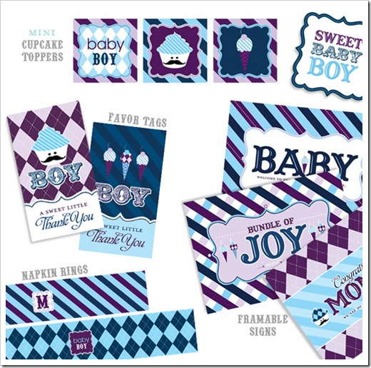baby boy shower free printables