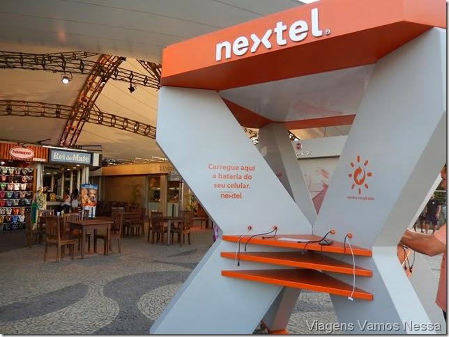Quiosque da Nextel, no Morro da Urca para carregamento de celular