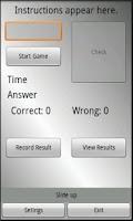 Screenshot of Think Fast