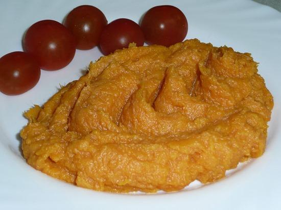 Батат - сладкий картофель, пюре