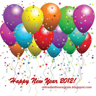 Baloons  Happy New Year 2012 B