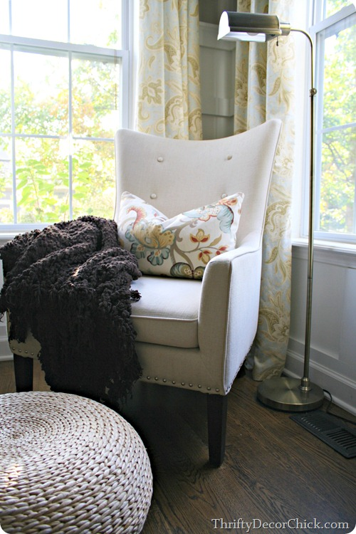 chair by windows