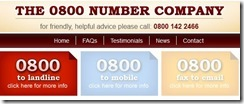 The 0800 Number Company