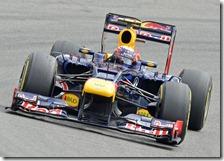 Webber nelle prove libere del gran premio di Germania 2012