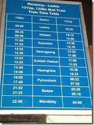 Burma Myanmar Train Gokteik Viaduct Shedule 20131211_092616