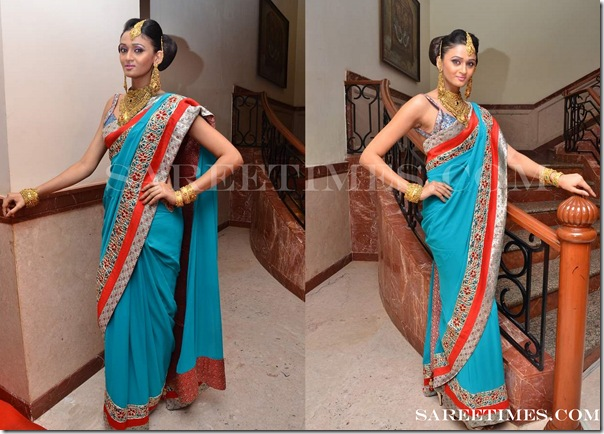 Blue_Designer_Saree_Shruti_Sancheti