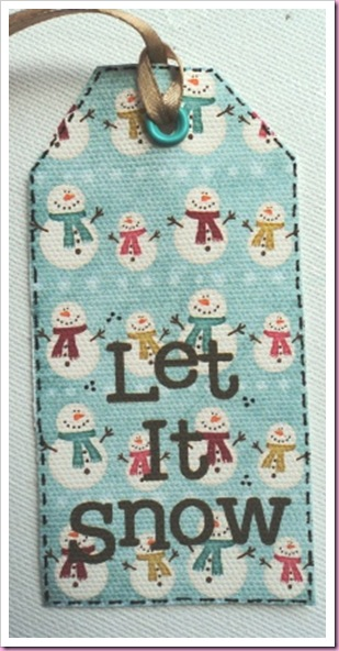 Let It Snow Canvas Tag 1