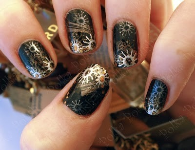 steampunk manicure via polkapolish