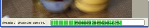 SmartDeblur percentuale completamento processo